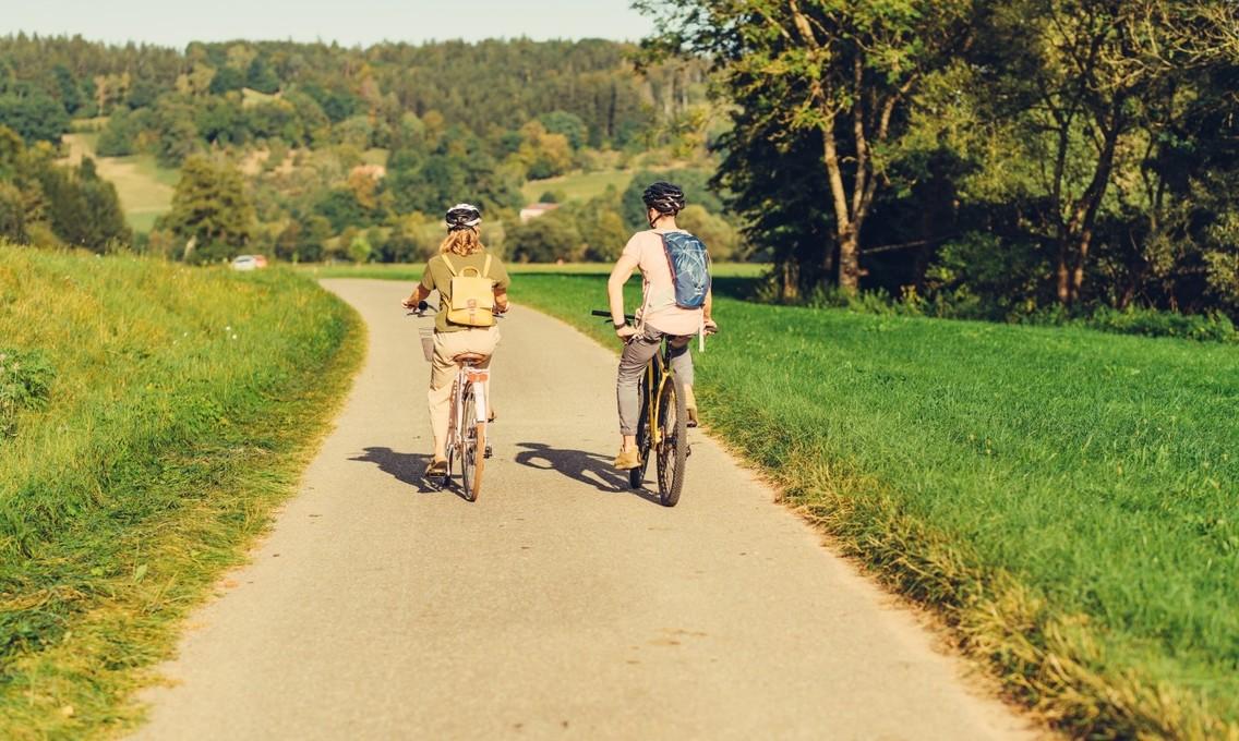 Radfahrer in Untergröningen