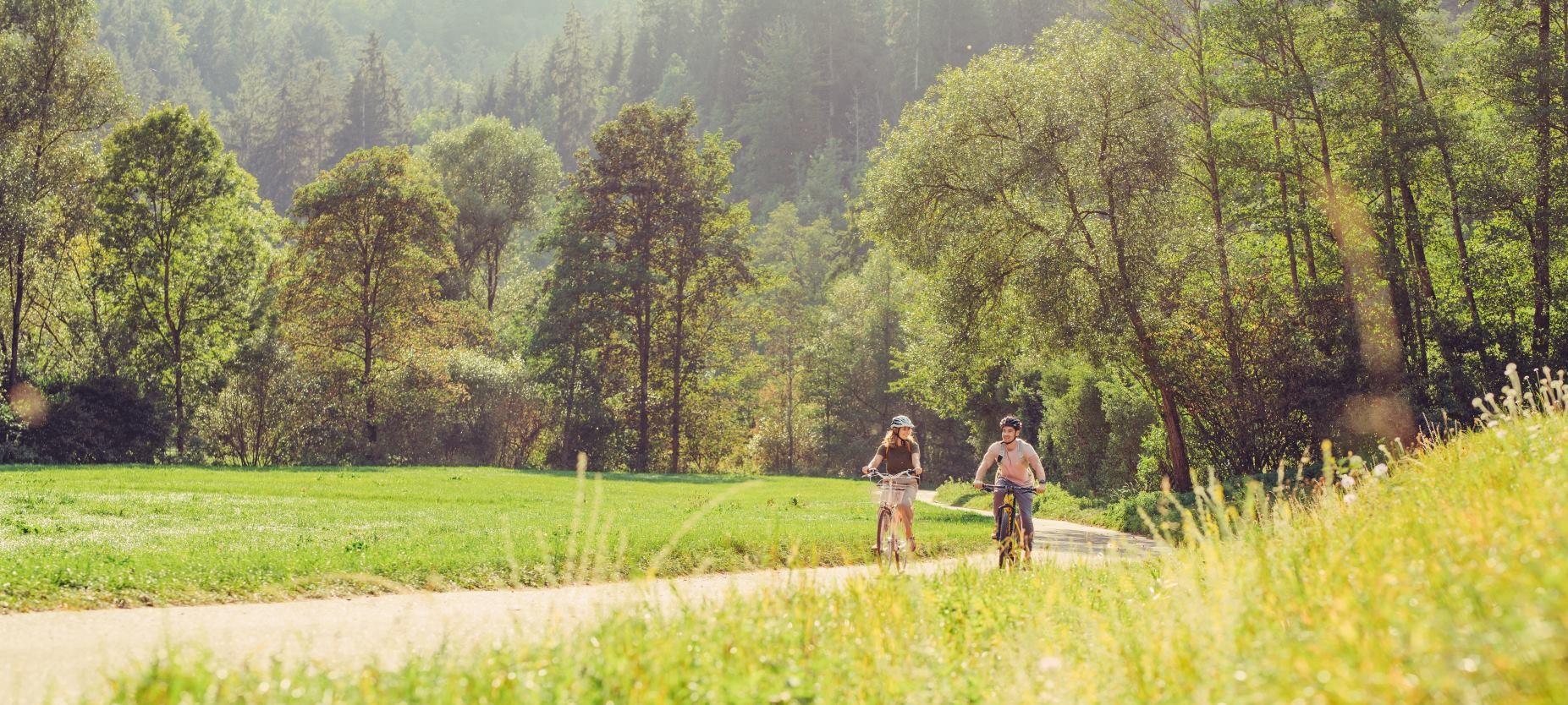 Radfahrer bei Untergröningen