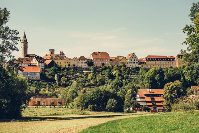 Blick auf Kirchberg/Jagst